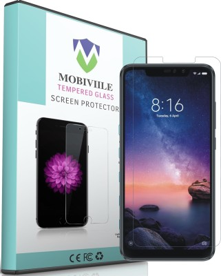 MOBIVIILE Tempered Glass Guard for Mi Redmi Note 6 Pro, Mi Redmi Note 6 Pro(Pack of 1)