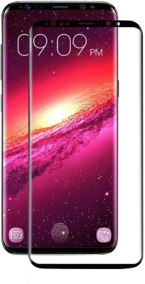 Royal Mobiles Edge To Edge Tempered Glass for Samsung Galaxy S8 (Black)(Pack of 1)