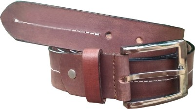 JusTrack Men Casual, Party, Formal, Evening Tan Genuine Leather Belt