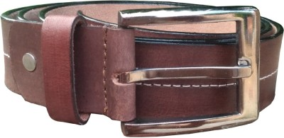 Justrack Men Casual, Party, Formal, Evening Tan Genuine Leather Reversible Belt
