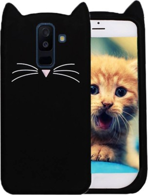 mhub Back Cover for Samsung Galaxy On8(Black Cat, Rubber)