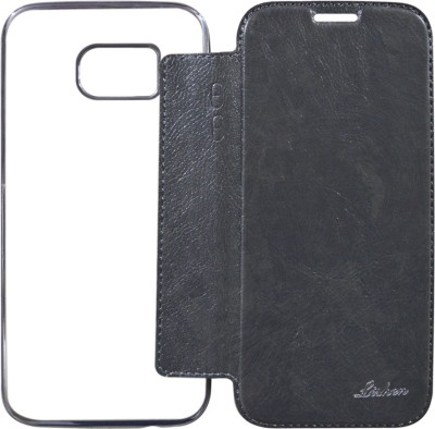 COVERBLACK Flip Cover for Samsung Galaxy S7 Edge Black