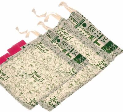 Golisoda Keep it Fresh & Go Green - Reusable Cotton Produce Bags For Storage - Set of 4 - Vegetable Bags / Fruits Bag / Fridge Bags / Veggie Bags / Storage Bags(Multicolor) at flipkart