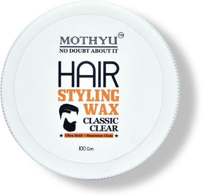 MOTHYU Hair styling wax (100gm) / classic clear/ ultra hold+maximum gloss Hair Styler(100 g)