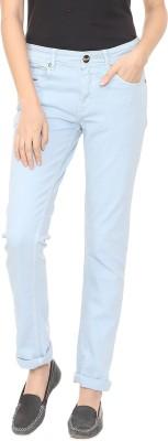 People Slim Women Light Blue Jeans