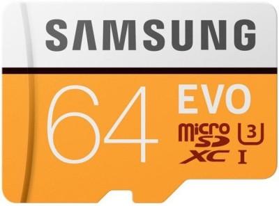 Samsung Evo 64 GB MicroSDXC Class 10 100 MB/s Memory Card(With Adapter)