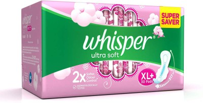 Whisper Ultra Soft Sanitary Pads Sanitary Pad(Pack of 30)