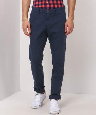 Tommy Hilfiger Regular Fit Men Blue Trousers at flipkart