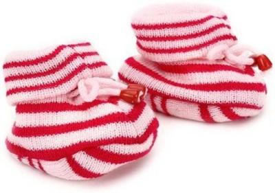 KidBee Booties(Toe to Heel Length - 12 cm, Pink)