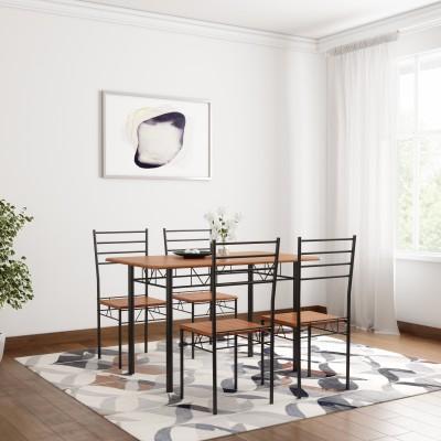 Home Edge Gordon Sheesham Solid Wood 6 Seater Dining Set(Finish Color - Teak)
