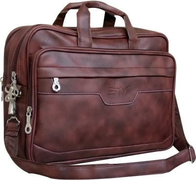 SM 15.6 inch Laptop Messenger Bag Brown