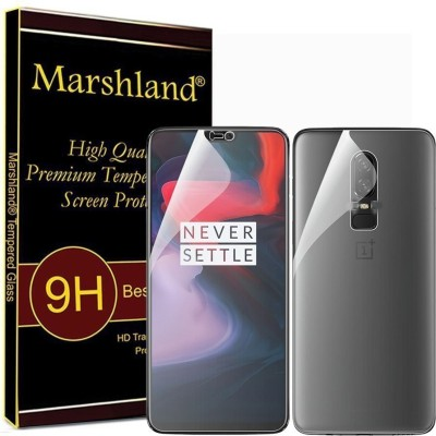 Marshland Front and Back Screen Guard for front and back screen guard, screen protector (transparent), OnePlus 6(Pack of 1)