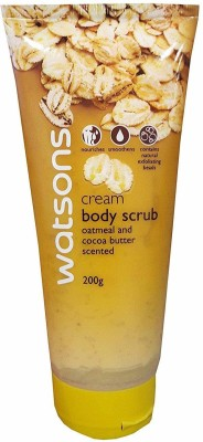 Watsons Cream Body Scrub With Oatmeal And Cocoa Butter Scented, 200g Scrub(200 ml) 1
