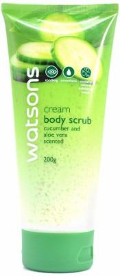Watsons Cream Body Scrub With Cucumber And Aloe Vera Scented, 200g Scrub(200 ml) 1