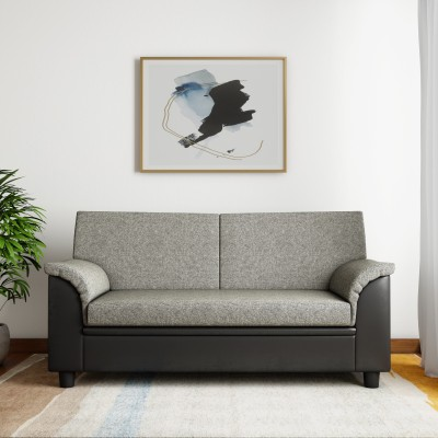 Kurlon Toledo Fabric 3 Seater  Sofa(Finish Color - Black)