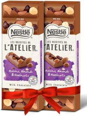 Nestle Les Recettes de l'Atelier Hazelnuts, Raisins & Almonds Bars(2 x 100 g)