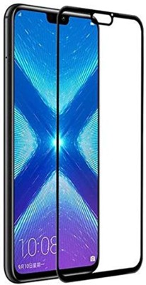True Desire Tempered Glass Guard for Honor 8X Tempered Glass: 6D Tempered Glass Screen Protector for Honor 8X -Black(Pack of 1)