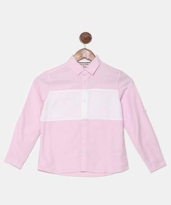 Miss & Chief Boys Solid Casual Pink Shirt at flipkart