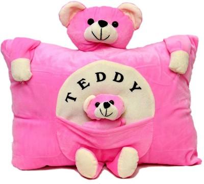 Prachi Toys Plush Stuffed Soft Toy Teddy Bear Pillow Kids / Baby Cushion  Pink    20 cm Pink Prachi Soft Toys