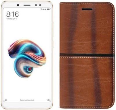 Mobtech Flip Cover for Mi Redmi Note 6 Pro Brown