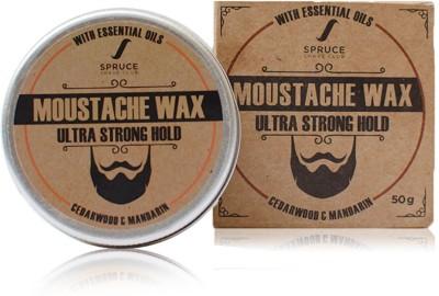 Spruce Shave Club Beard & Moustache Wax For Ultra Strong Hold - 50g - Cedarwood & Mandarin Hair Wax(50 g)