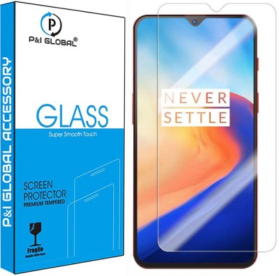 P&I GLOBAL Tempered Glass Guard for OnePlus 6T(Pack of 2)