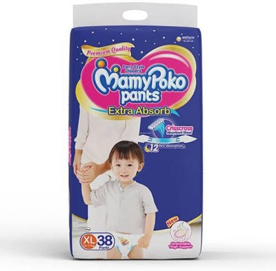 MamyPoko Pants Extra Absorb Diaper, XL  Pack of 38    XL 38 Pieces MamyPoko Baby Diapers