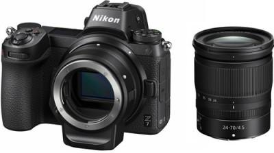 Nikon Z 7 Mirrorless Camera Body + 24-70mm Lens and Mount Adapter(Black)