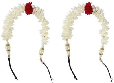 Majik Fancy Gajra (Veni) Accessories for Women Hair Band (Multicolor) Hair Band(White) Flipkart