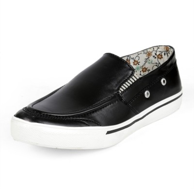 Red Cruise - Sneakers/casual/dress shoes-Black Slip On Sneakers For Men(Black)