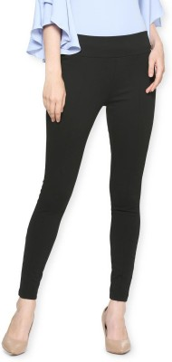 Q-Rious Regular Fit Women Black Trousers