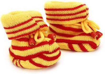 KidBee Booties(Toe to Heel Length - 12 cm, Yellow, Red)