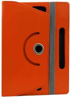 Fastway Book Cover for Micromax Canvas Tab P681(Orange, Cases with Holder)
