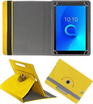 Fastway Flip Cover for Alcatel 1T7 8 GB 7 inch with Wi-Fi Only Tablet(Yellow, Cases with Holder)