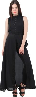 My Swag Women's A-line Black Dress
