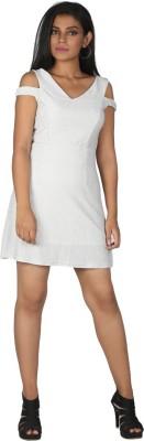 MONT EVE Women A-line White Dress