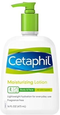 Cetaphil Fragrance Free Moisturizing Lotion, 16-Ounce Bottles (Pack of 2)(473 ml)