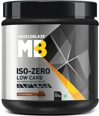 MuscleBlaze Iso zero, LOW CARB, Chocolate (0.5Kg) Whey Protein(500 g, Chocolate)