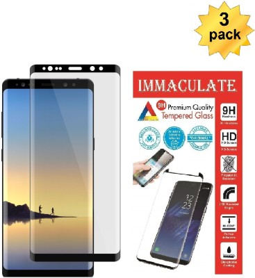 IMMACULATE Edge To Edge Tempered Glass for Samsung Galaxy Note 8(Pack of 1)