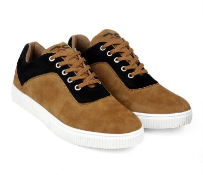 Red Cruise - by Bacca Bucci Mens Spartan Sneakers/casual/dress shoes-Tan Sneakers For Men(Tan, Black)