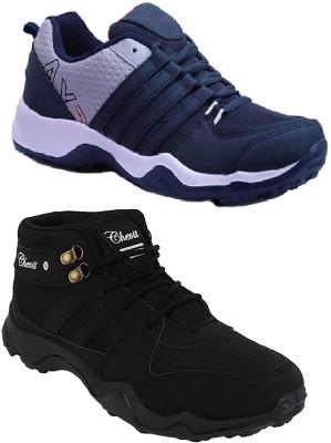 Fila MODESTO SS 19 Running Shoes For Men(Black, Green)