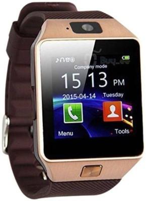 stark DZ09 Golden Smartwatch(Brown Strap Regular)
