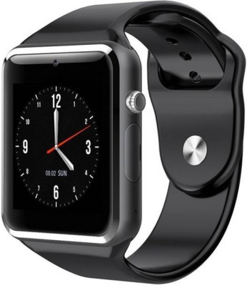 Mzee a1 black 18 Notifier Black Smartwatch(Black Strap FREE SIZE)