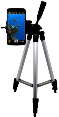 BUY GENUINE best Quality Long Shaped Tripod-3110 Portable Adjustable, storng body Aluminum Lightweight Camera Stand With Three-Dimensional Head & Quick Release Plate For Canon Nikon Sony Cameras Camcorders and mobile holder Tripod(Silver & Black, Supports Up to 1500)  available at flipkart for Rs.999