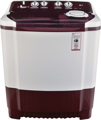 LG 8Kg top Load Semi Automatic Washing Machine Burgandy (P9042R3SM, Burgandy)