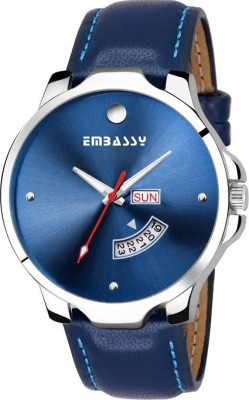 Embassy Multi Features Day And Date Analog Watch  - For Men