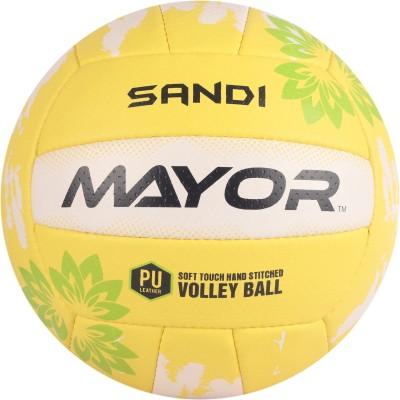 Mayor Sandi Volleyball - Size: 4(Pack of 1, Yellow, Green)