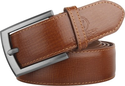 LIMERENCE Men Formal, Casual Tan Genuine Leather Belt