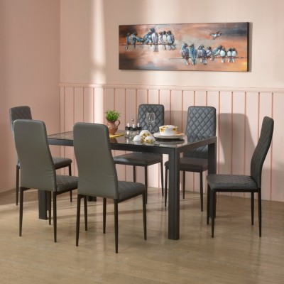 Nilkamal Texas Engineered Wood 4 Seater Dining Set(Finish Color - Brown)