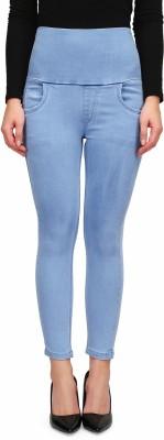 Miss Wow Slim Women Light Blue Jeans
